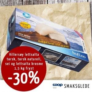 Hillersøy Fisk - Kampanje hos Coop Vest