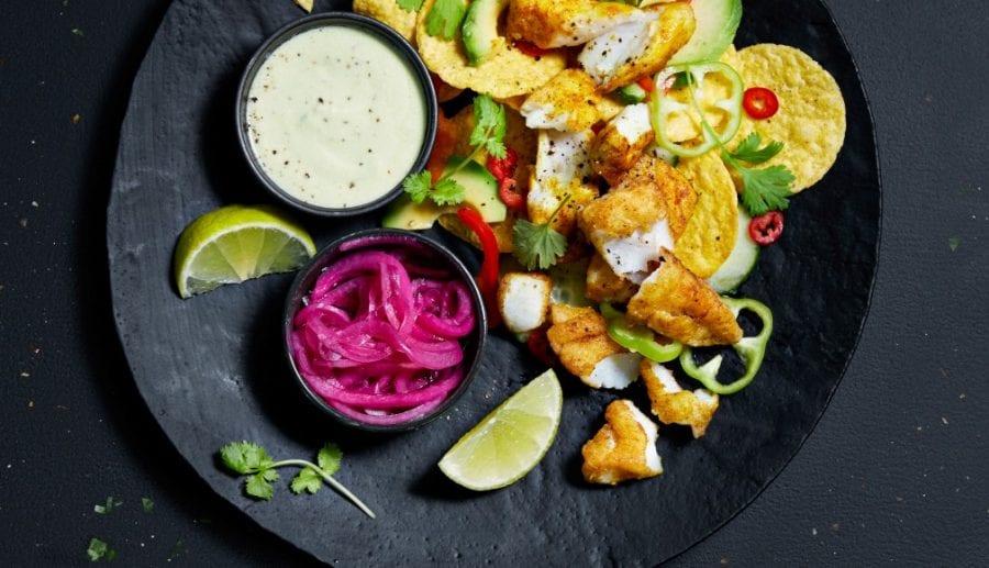 Nachos og fredagstaco med fisk