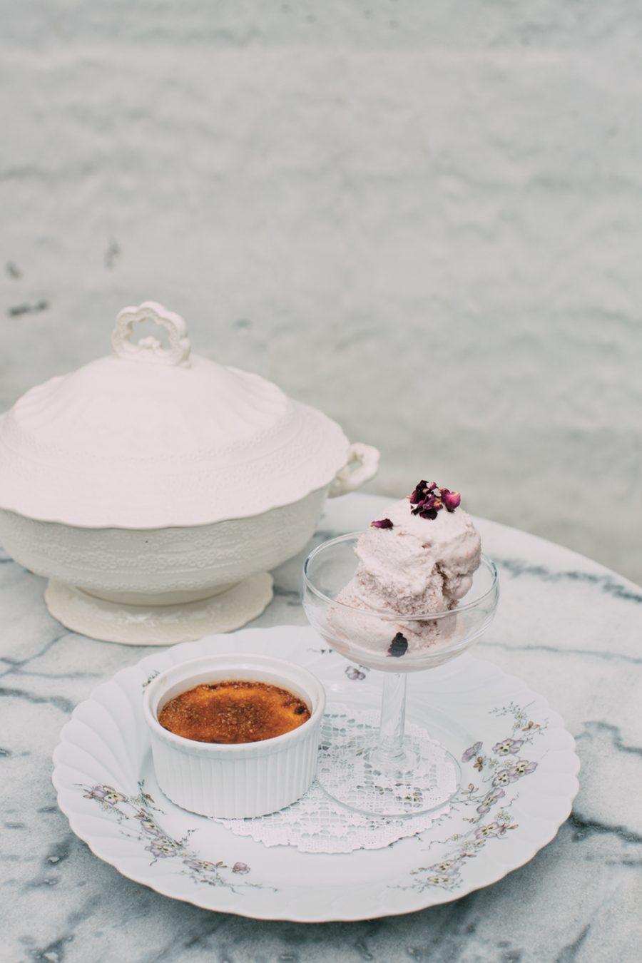 Crème Brûlée med Rabarbrasorbet